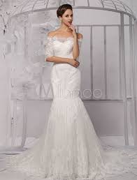 wedding dress no half sleeve the shoulder lace wedding dress in trumpet style