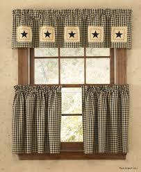 Primitive Kitchen Curtains Kitchen Decor Image Is Loading Primitive Country