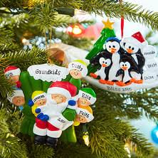 written personalized and ornaments