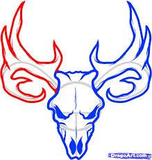 5 how to draw a deer skull deer skull