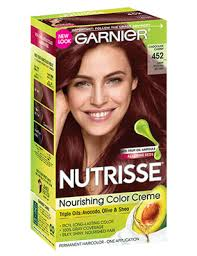 brown cherry hair color nutrisse nourishing color creme dark reddish brown 452 garnier
