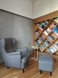 accecories home library design amazing dark gray recliner chair accecories amazing dark gray recliner chair with footstool home library penthouse apartment interior decorating ideas