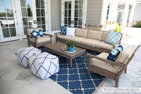 Pottery Barn Zig Zag Rug by Outdoor Entertaining Area The Sunny Side Up Blog