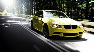 bmw wallpaper 1080p wallpaper 1920x1080 auto bmw m3 yellow road forest