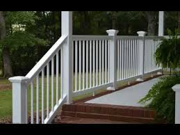 vinyl railing lowes youtube
