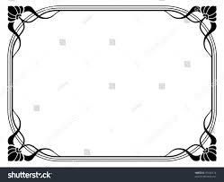 Decorative Frame Png Art Nouveau Ornamental Decorative Frame Stock Vector 91646174