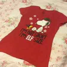peanuts christmas t shirt peanuts tops snoopy christmas tshirt juniors xl poshmark