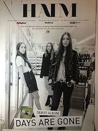 haim poster haim days are poster tour promo new free poster pop