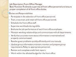 Spa Front Desk Job Description Concierge Job Description Concierge Job Description Resume