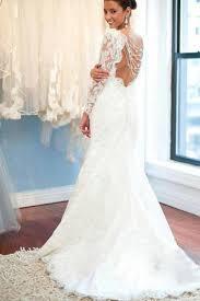 lace backless wedding dress white lace backless neck sleeve mermaid wedding party