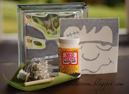 Halloween Crafts Frankenstein Glass Block