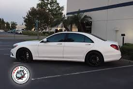 white wrapped range rover mercedes s550 wrapped in satin white wrap bullys