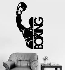 vinyl wall decal boxing boxer fight sports decor stickers mural vinyl wall decal boxing boxer fight sports decor stickers mural ig3466