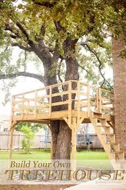 backyard tree house ideas tree fort ladder gate roof finale house