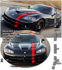 dodge viper turbo kit 2008 2010 dodge viper acr style graphic stripe kit atd ddgevprgrph9