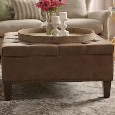 Brown Leather Tufted Sofa by Ottomans White Tufted Settee Modern Tufted Sofa Tufted Leather