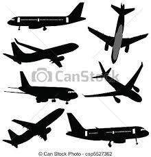 aereo clipart silhouette aereo illustrazione vettoriale cerca clip