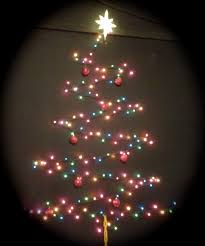 good christmas tree out of lights on wall 94 with additional