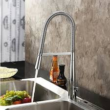 Solid Brass Kitchen Taps by Contemporary Solid Brass Chrome Finish Single Handle Kitchen