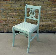 Light Blue Accent Chair Furniture Rustic Light Blue Painted Wood Accent Chair With Back