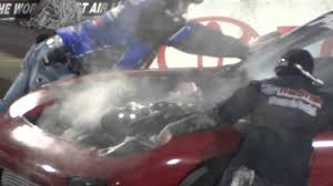 rx7 blows engine v8 turbo youtube