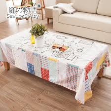 tablecloth for coffee table seam story world map series cotton pastoral tablecloth tablecloth