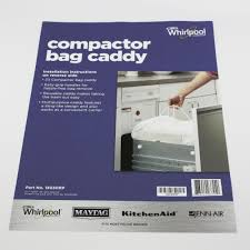 13030rp for whirlpool trash compactor bag caddy with handles ebay