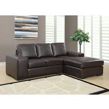 jacob condo sized sectional sofa in brown modern sectional sofa