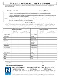 2014 tax year student non tax filer u0027s statement