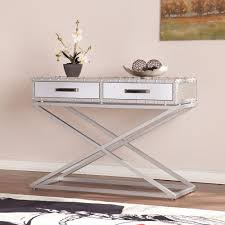 Mirrored Console Table Southern Enterprises Harry Matte Silver Mirrored Console Table
