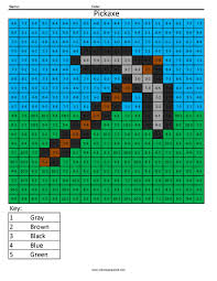 mm8 minecraft steve multiplication and division coloring pages big