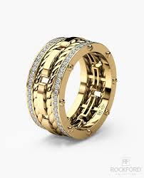 mens gold wedding band ropes mens gold wedding band with diamonds rockford collection