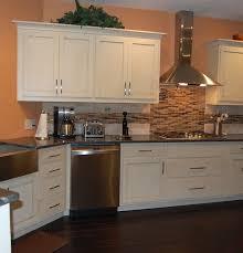Shaker Kitchen Cabinets Kitchen Glamorous Painted White Shaker Kitchen Cabinets