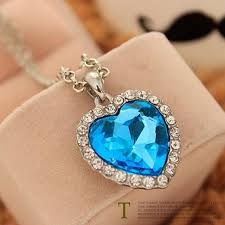 titanic blue heart necklace images Movie titanic heart of ocean pendant necklace blue heart necklace jpg