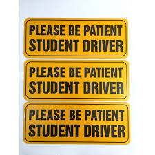 zone tech effective bumper decal please be patient student driver