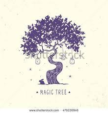 beautiful amazing magic tree stylish vector stock vector 479226946
