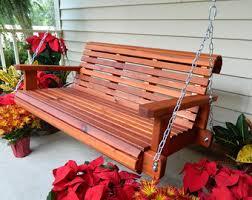 cedar glider swing 4ft 5ft 6ft patio swing handmade heavy