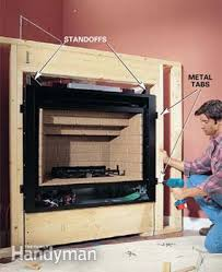 Direct Vent Fireplace Installation by How To Install A Gas Fireplace Family Handyman