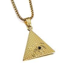 aliexpress buy nyuk new fashion american style gold aliexpress buy nyuk golden pyramid triangle evil eye
