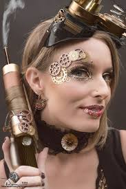 steunk makeup guide gears on eyes lips for costume tutorials clothing guide