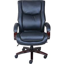 Most Comfortable Executive Office Chair La Z Boy Bradley Leather Executive Office Chair Fixed Arms Brown
