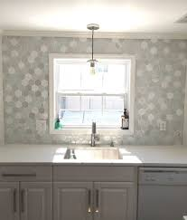 kitchen decorating marble hex floor tile gray hex tile glass