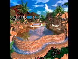 Lagoon Swimming Pool Designs by Tropical Pool Landscaping Ideas Youtube