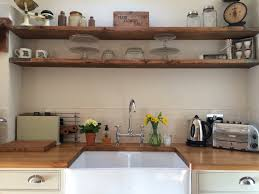 roses and rolltops makeover scaffold board shelves country