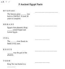 egyptabout teacher zone worksheets