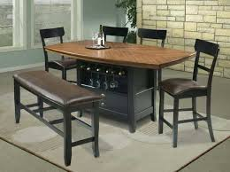 breakfast table with storage counter height tables with storage rustic bistro decoration with