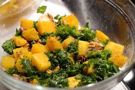 recette automnale salade de chou kale courge butternut rotie et