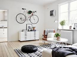 Swedish Home Decor A Very Cool Swedish Space With A Bike Scandinavian Spaces