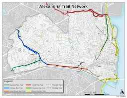 Alexandria On A Map Multi Use Trails Go Alex City Of Alexandria Va