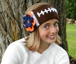 football headbands tunisian knit look crochet football headband